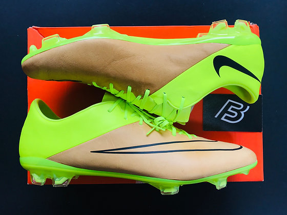 Nike Mercurial Vapor X Leather Tech Craft FG Canvas/Black/Volt UK Size 11