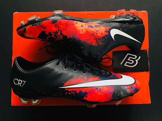 Nike Mercurial Vapor X FG – CR7 Savage Beauty - Black / Lava Orange / White
