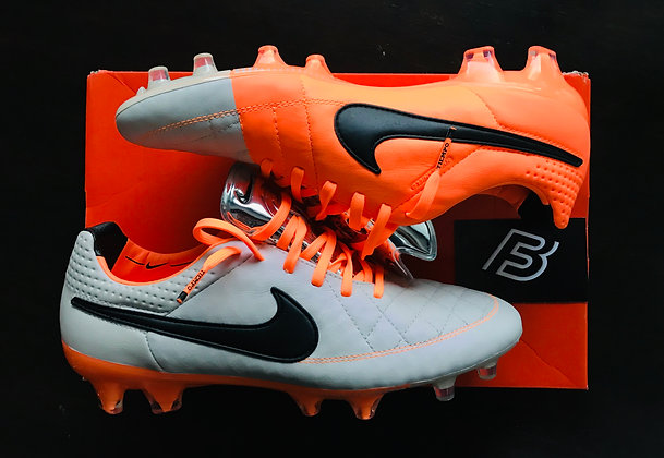 Tiempo Legend V FG Desert Sand / Orange Football Boots UK Size 7.5