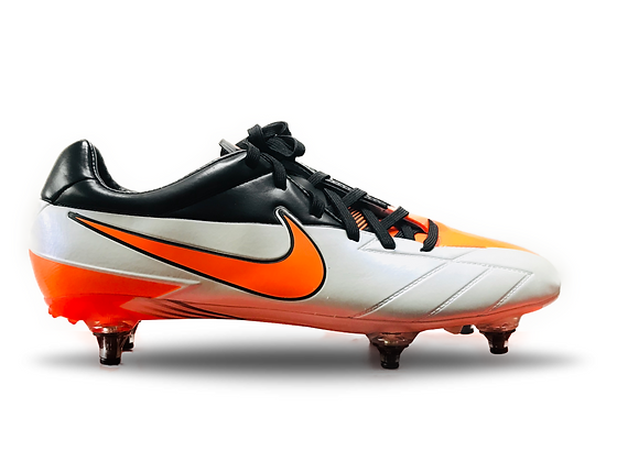 NIKE T90 Laser IV SG - White / Total Orange / Black