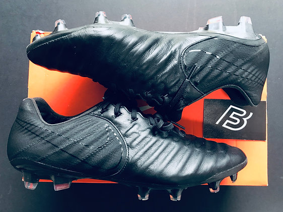"Nike Tiempo Legend VII Elite ""ACADEMY PACK BLACK"" Football Boots UK Size 9.5 FG"
