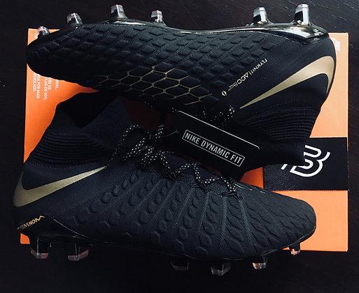 Nike Hypervenom Phantom 3 Elite DF FG Game of Gold - Black/Gold - Size UK 8