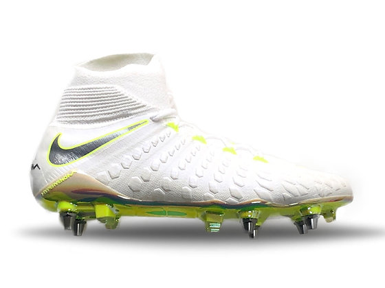 Nike Hypervenom Phantom III Elite DF Just Do It World Cup SG Pro White / Volt