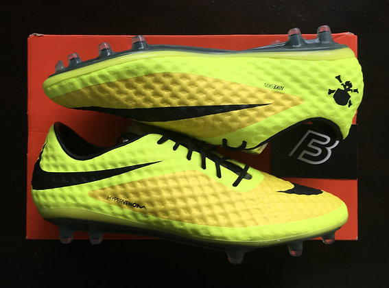 Nike Hypervenom Phantom I Yellow / Silver FG UK 8.5