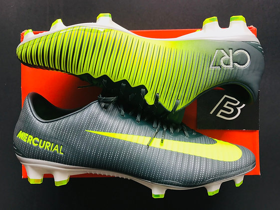 Nike Mercurial Vapor XI CR7 Chapter 3: Discovery FG - Seaweed/Volt UK Size 10.5