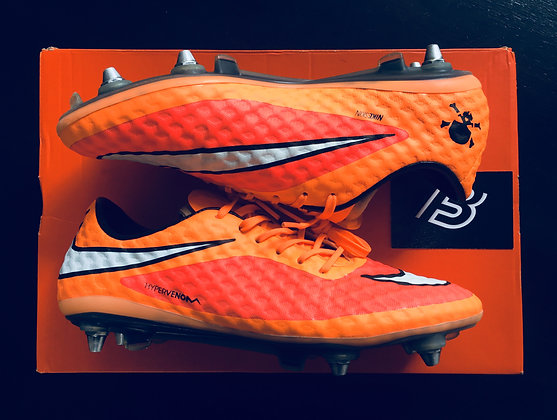 Nike Hypervenom Phantom SG - Hyper Crimson-White-Atomic Orange Size UK 7