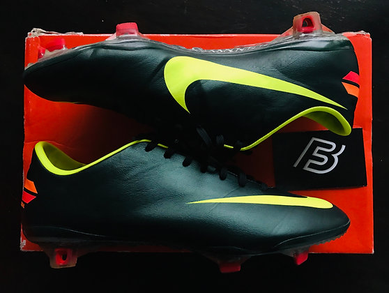 Nike Mercurial Vapor VIII Football Boots - Seaweed/Volt/Red - Size UK 7