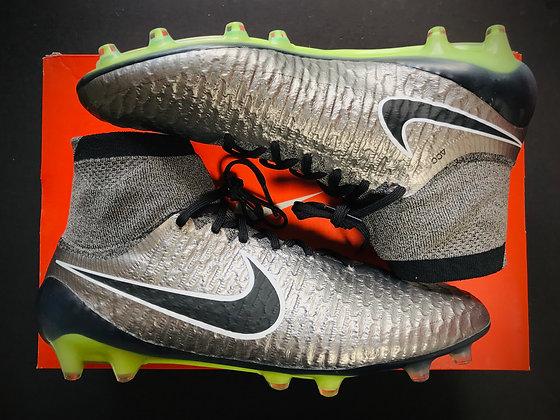 "Nike Magista Obra I ""Liquid Chrome Pack"" Metallic Pewter / Black / White FG"