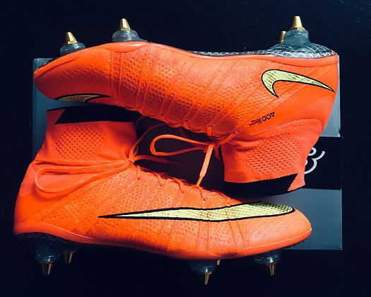 """Nike Superfly IV """"World Cup"""" Carbon Fibre - Hyper Punch SG - Size  UK8"""