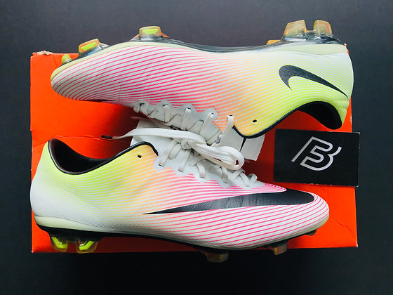 "Nike Mercurial Vapor X ""Radiant Reveal"" White Volt Pink UK Size 7.5 FG"