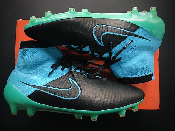 Nike Magista Obra FG Tech Craft Leather Black / Turquoise Blue