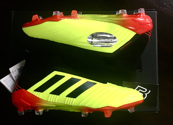 Adidas Predator 18+ FG Boots - Solar Yellow/Black/Red - UK Size 10