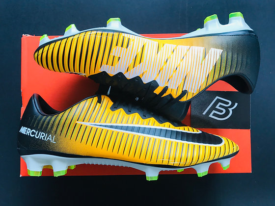 """Nike Mercurial Vapor XI FG """"Lock In Let Loose"""" - Laser Orange UK Size 9"""