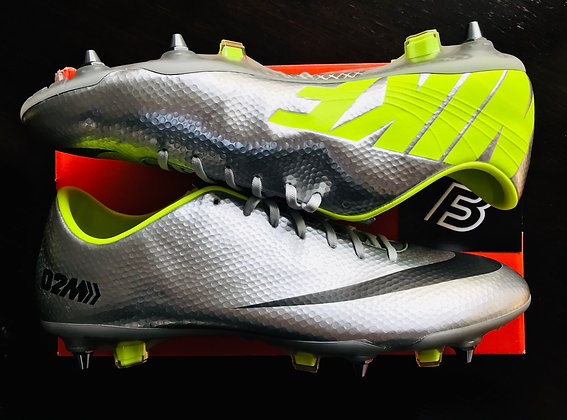 Nike Mercurial Vapor IX – Fast Foward '02: Chrome / Lime Size UK 11
