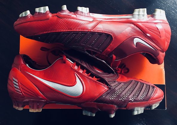 Nike Total 90 T90 Laser II - Varsity Red/Silver Size UK11