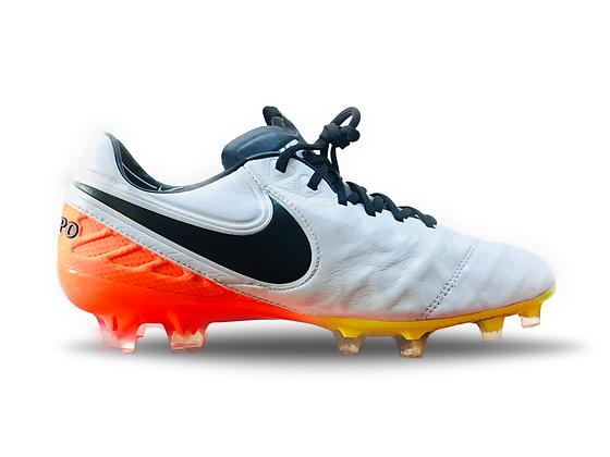 "Nike Tiempo Legend VI FG ""Radiant Reveal"" White Black Orange Volt"