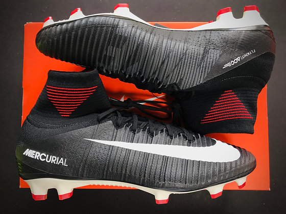 Nike Mercurial Superfly V FG Pitch Dark - Black / White / University Red