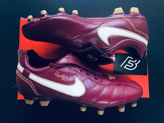 Nike Tiempo Ronaldinho 10R - Team Red / White / Gold (2007) UK Size 8