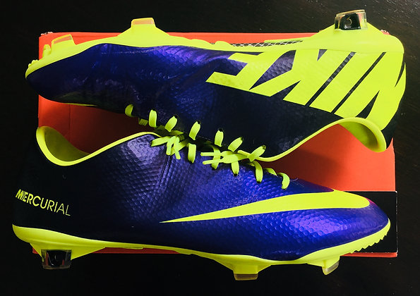 Nike Mercurial Vapor IX – Purple Neon Volt UK Size 11 FG