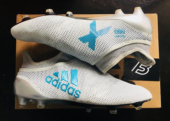 Adidas X 17+ Purespeed FG Boots - Dust Storm White / Blue Size UK 10