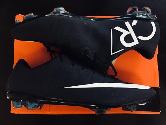 Nike Mercurical Vapor X CR7 FG Black Glitter Size 12
