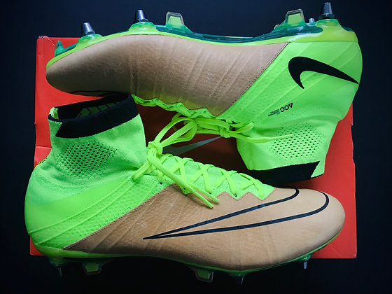 Nike Mercurial Superfly Leather Tech Craft FG Canvas / Black / Volt
