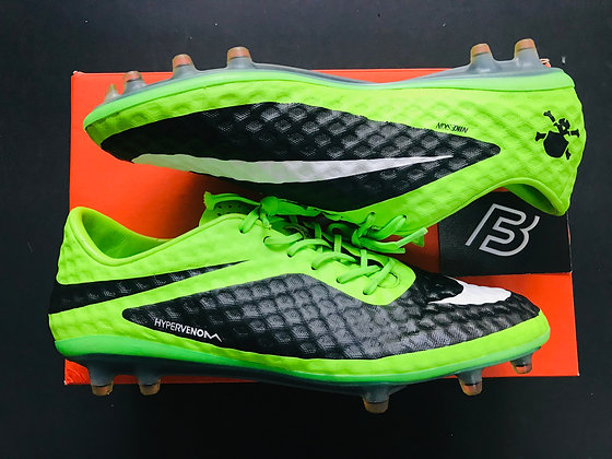 Nike Hypervenom Phanthom FG Flash Lime/White/Black UK Size 8 FG