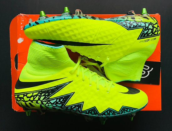"Nike HyperVenom Phantom II ""Spark Brilliant - Volt Yellow"" Size UK 8 SG"