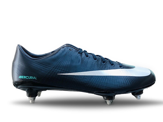 Nike Mercurial Vapor Superfly II Obsidian /White / Cool Mint SG