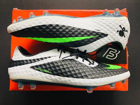 Nike Hypervenom Phantom FG Black / Neo Lime / White Size UK 11.5 FG
