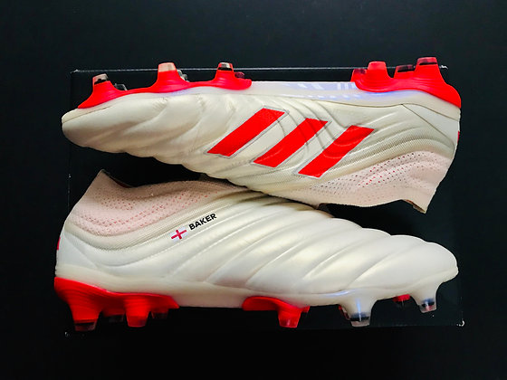 adidas Copa 19+ FG Football Boots  Off white-Solar red-Off white - UK Size