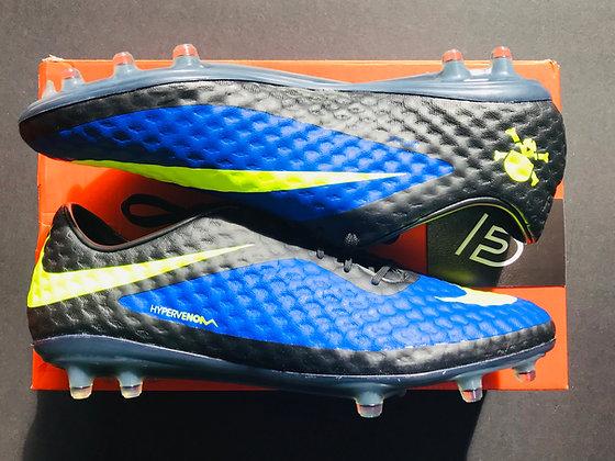 Nike Hypervenom Phantom FG Hyper Blue / Volt / Black - UK Size 9.5