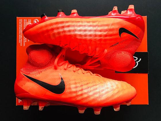 Nike Magista Obra II FG Radiation Flare - Total Crimson/Black UK Size 7.5