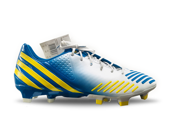 adidas Predator LZ White / Yellow / Blue TRX FG