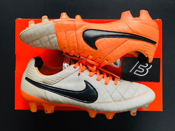 Tiempo Legend V FG Desert Sand / Orange Football Boots UK Size 7