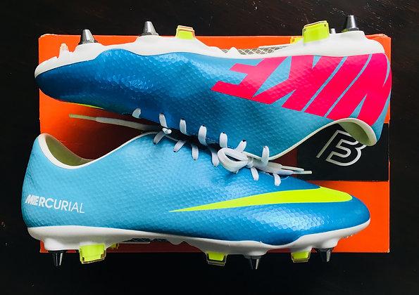 Nike Mercurial Vapor IX Neptune Blue / Volt / Pool Blue UK Size 9.5 SG