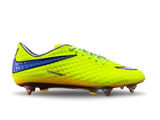 Nike Hypervenom Phantom I Volt / Purple / Black Size SG Pro