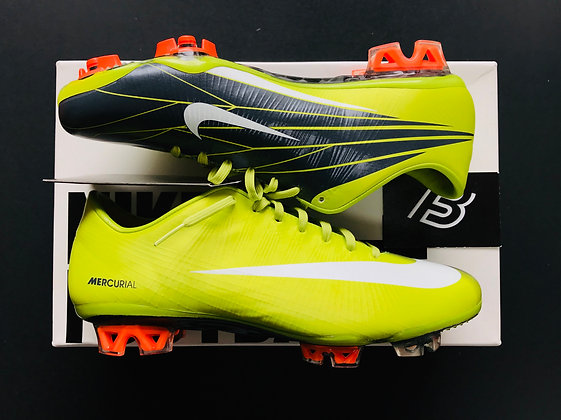 Nike Mercurial Superfly II – BRIGHT CACTUS/ WHITE / ANTHRACITE FG UK Size 7