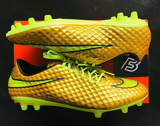 Nike Hypervenom GOLD Neymar Phantom FG UK Size 10.5