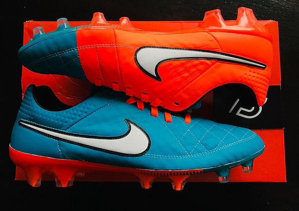 "Nike Tiempo Legend V ""Neo Turquoise"" Football Boots UK Size 8 FG"