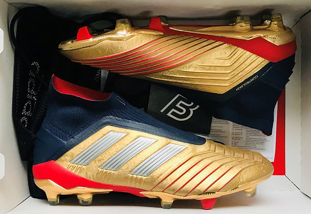 adidas Predator 19+ 'Beckham Zidane' Gold / Blue / Red UK Size 8