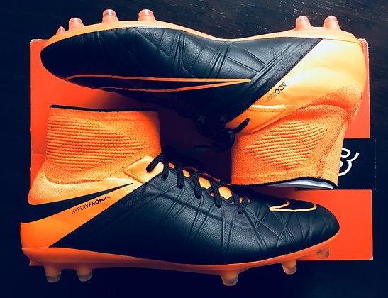 Nike HyperVenom Phantom II Tech Craft Leather FG Orange Size 10 - RRP £230