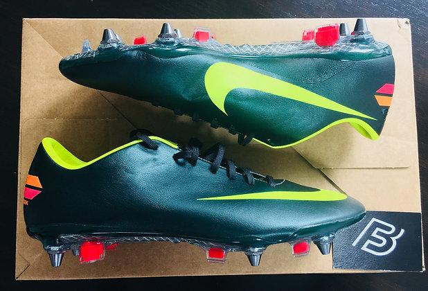 Nike Mercurial Vapor VIII Football Boots - Seaweed/Volt/Red - Size UK 9