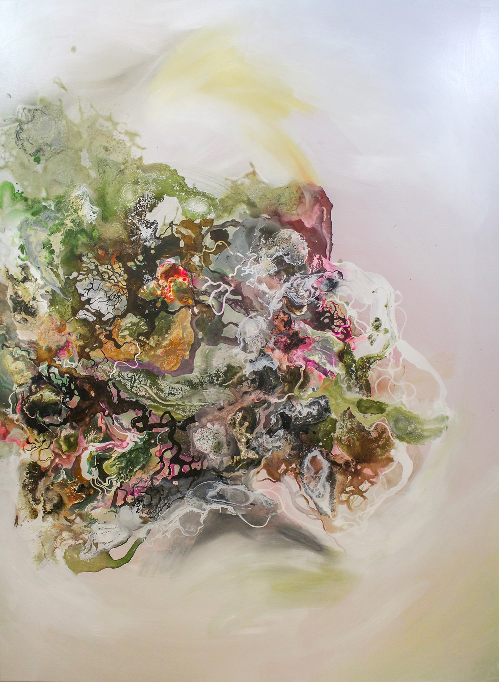 Vietnamese artist Le Tuan Ry Mixed Media on Canvas