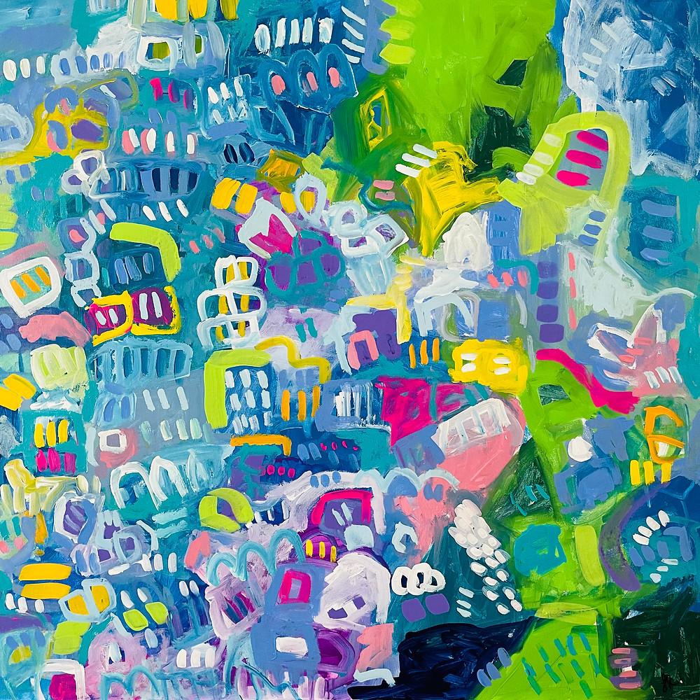 Art Herald Magazine, Samantha Redfern, Abstract Expressionism, Mixed Media Painting, Acrylic Painting, British Artist, Joy Art, Affordable Art Fair, Addicted Art Gallery