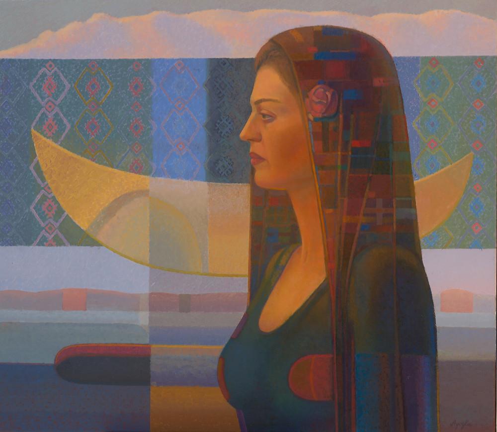 Art Herald Magazine, Dimitri Ayoglu, Ukraine, Cubism, Cubist, Painting, Feminine, Form, Figure, Oil on Canvas, Fine Art, Conceptual Art