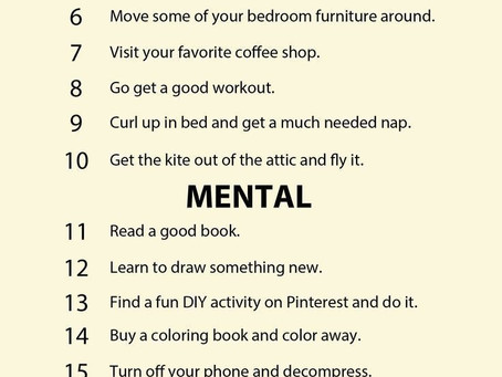 Anxiety : Signs you are overthinking and 30 ways to practice self care.
