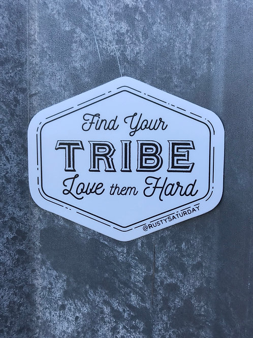 Find Your Tribe Badge Sticker