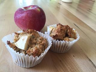 Muffins aux pommes et à l'avoine