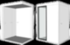 Cabine acoustique pliable OCO Serie L ouvert-clos